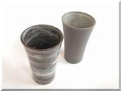 陶器 ビールグラス ペア